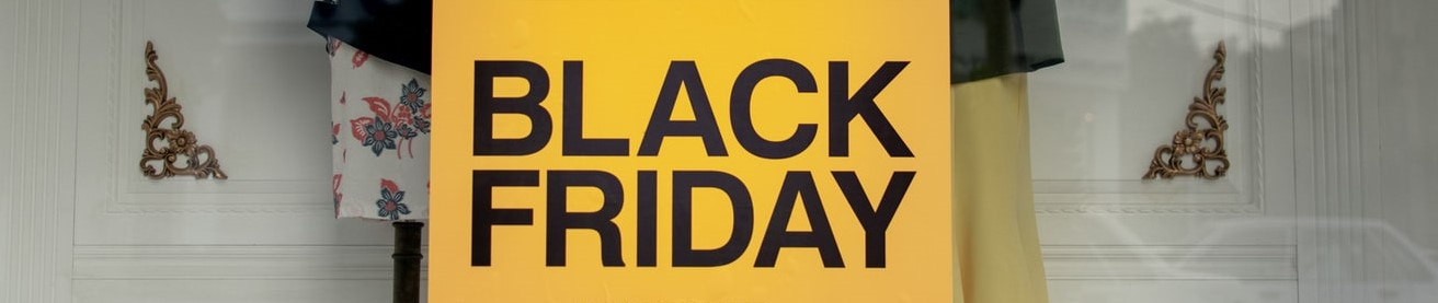 Black Friday Schaufenster